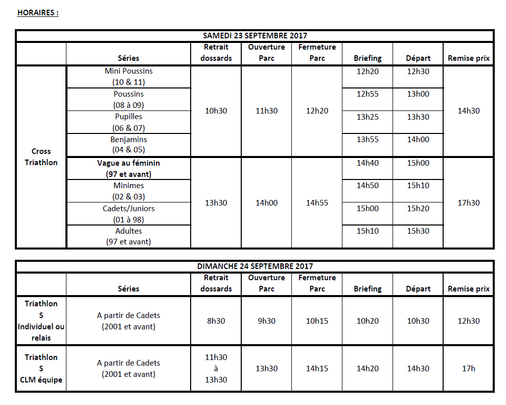 Horaires TRI Chartres